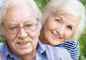 Senior Couple Relaxed after Purchasing Burial Insurance