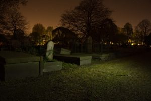 Graveyard in Night